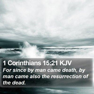1 Corinthians 15:21 KJV Bible Verse Image