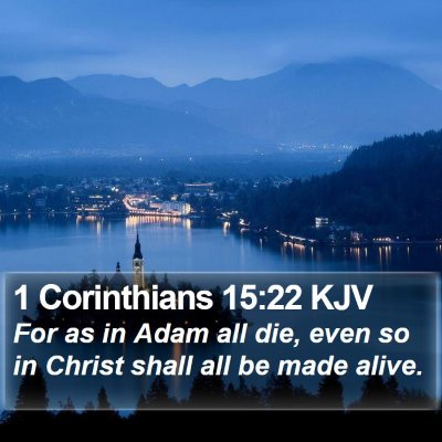 1 Corinthians 15:22 KJV Bible Verse Image
