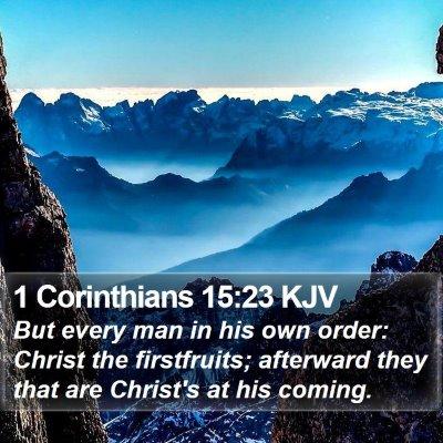 1 Corinthians 15:23 KJV Bible Verse Image