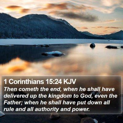 1 Corinthians 15:24 KJV Bible Verse Image