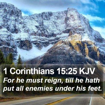 1 Corinthians 15:25 KJV Bible Verse Image