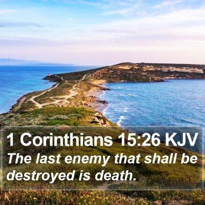1 Corinthians 15:26 KJV Bible Verse Image