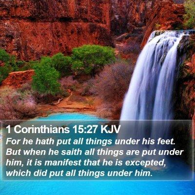 1 Corinthians 15:27 KJV Bible Verse Image