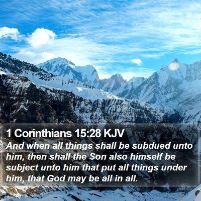 1 Corinthians 15:28 KJV Bible Verse Image