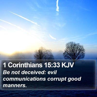 1 Corinthians 15:33 KJV Bible Verse Image