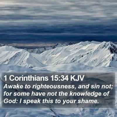1 Corinthians 15:34 KJV Bible Verse Image
