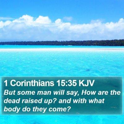 1 Corinthians 15:35 KJV Bible Verse Image