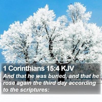 1 Corinthians 15:4 KJV Bible Verse Image