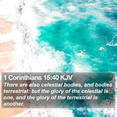 1 Corinthians 15:40 KJV Bible Verse Image