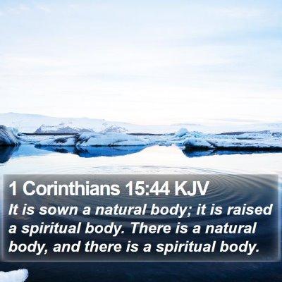 1 Corinthians 15:44 KJV Bible Verse Image