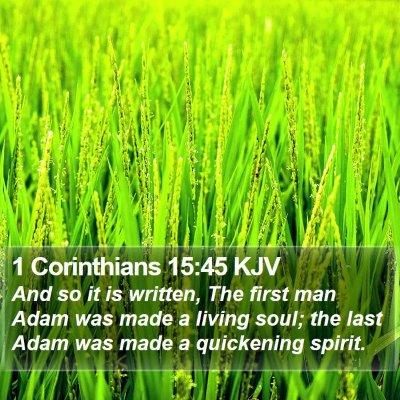 1 Corinthians 15:45 KJV Bible Verse Image