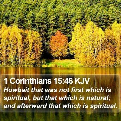 1 Corinthians 15:46 KJV Bible Verse Image
