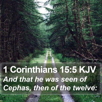 1 Corinthians 15:5 KJV Bible Verse Image