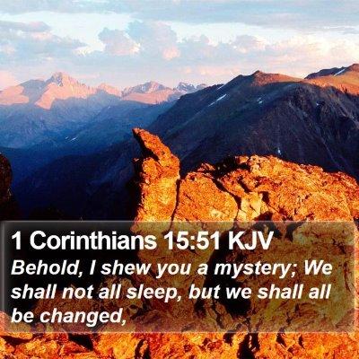 1 Corinthians 15:51 KJV Bible Verse Image