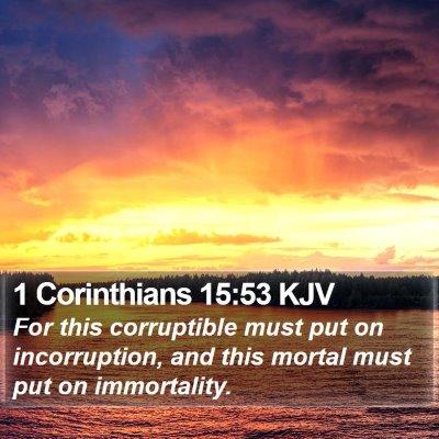 1 Corinthians 15:53 KJV Bible Verse Image