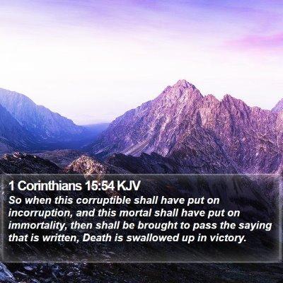 1 Corinthians 15:54 KJV Bible Verse Image