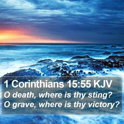 1 Corinthians 15:55 KJV Bible Verse Image