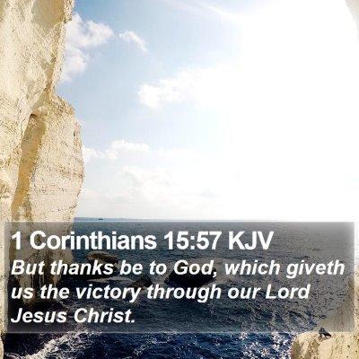 1 Corinthians 15:57 KJV Bible Verse Image