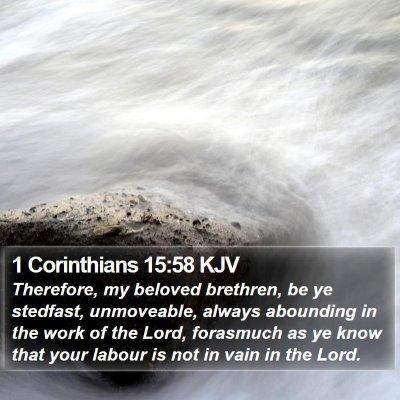 1 Corinthians 15:58 KJV Bible Verse Image