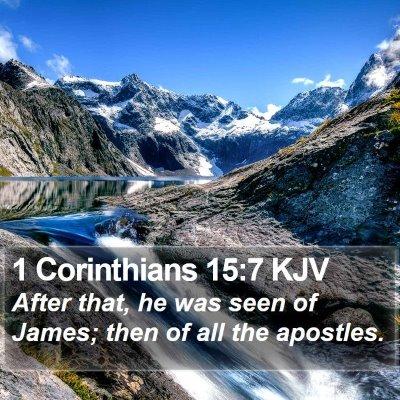 1 Corinthians 15:7 KJV Bible Verse Image