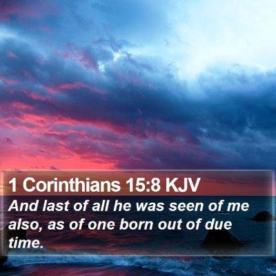 1 Corinthians 15:8 KJV Bible Verse Image