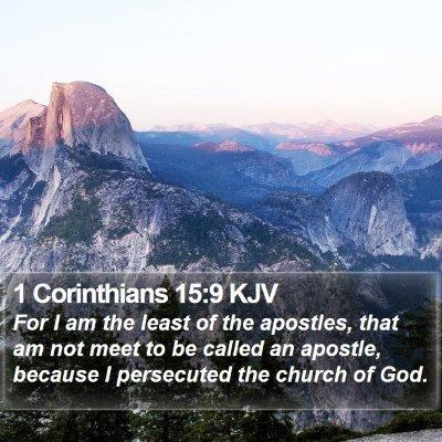 1 Corinthians 15:9 KJV Bible Verse Image