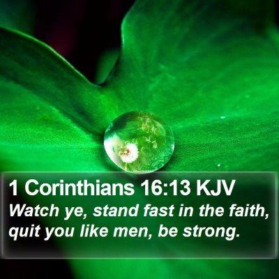 1 Corinthians 16:13 KJV Bible Verse Image