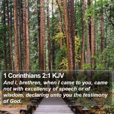 1 Corinthians 2:1 KJV Bible Verse Image