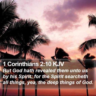 1 Corinthians 2:10 KJV Bible Verse Image