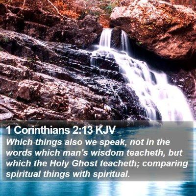 1 Corinthians 2:13 KJV Bible Verse Image