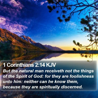 1 Corinthians 2:14 KJV Bible Verse Image