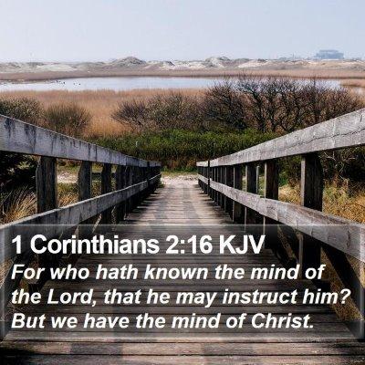 1 Corinthians 2:16 KJV Bible Verse Image