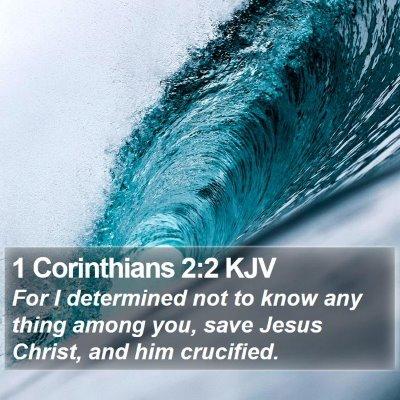 1 Corinthians 2:2 KJV Bible Verse Image