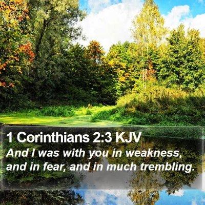 1 Corinthians 2:3 KJV Bible Verse Image
