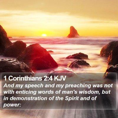 1 Corinthians 2:4 KJV Bible Verse Image