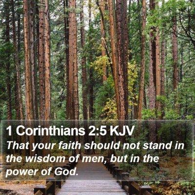 1 Corinthians 2:5 KJV Bible Verse Image