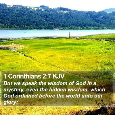 1 Corinthians 2:7 KJV Bible Verse Image