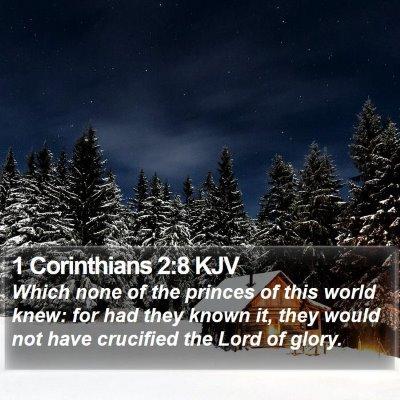 1 Corinthians 2:8 KJV Bible Verse Image