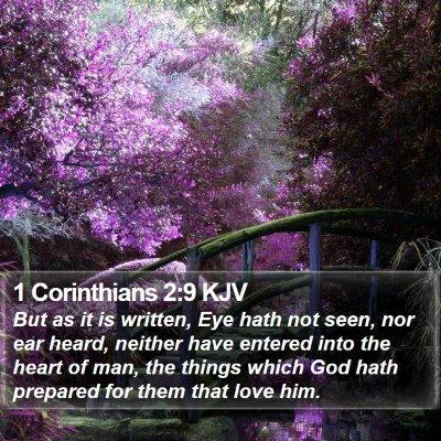 1 Corinthians 2:9 KJV Bible Verse Image