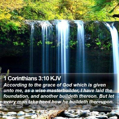 1 Corinthians 3:10 KJV Bible Verse Image