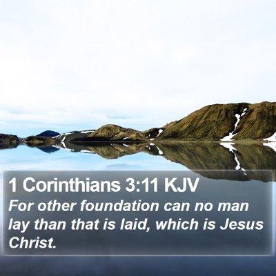 1 Corinthians 3:11 KJV Bible Verse Image