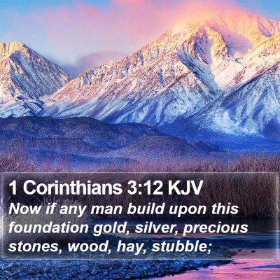 1 Corinthians 3:12 KJV Bible Verse Image