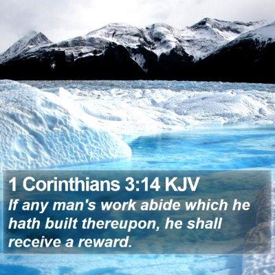 1 Corinthians 3:14 KJV Bible Verse Image