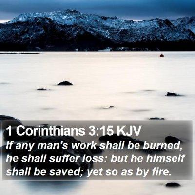 1 Corinthians 3:15 KJV Bible Verse Image