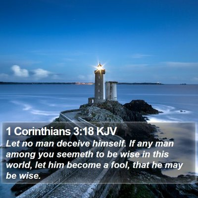 1 Corinthians 3:18 KJV Bible Verse Image