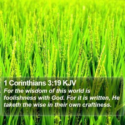 1 Corinthians 3:19 KJV Bible Verse Image