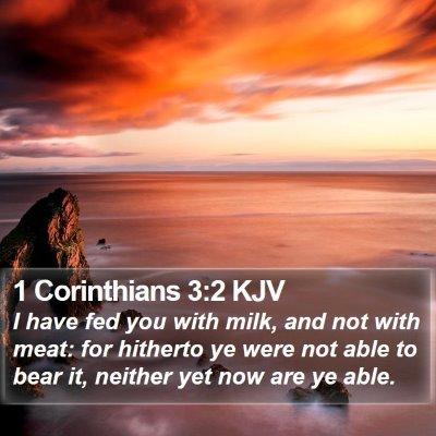 1 Corinthians 3:2 KJV Bible Verse Image