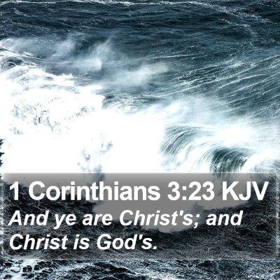 1 Corinthians 3:23 KJV Bible Verse Image