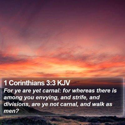 1 Corinthians 3:3 KJV Bible Verse Image
