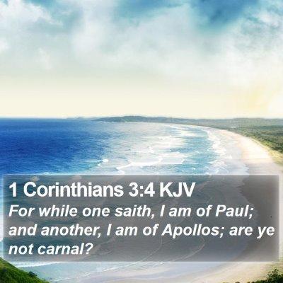 1 Corinthians 3:4 KJV Bible Verse Image